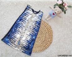 Pullu Payetli Kız Çocuk Elbise