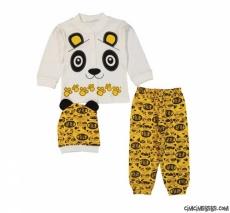 Panda 3'lü Bebek Zıbın Seti