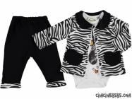Zebra Hırkalı Badili 3'lü Takım