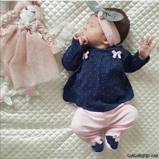 Kurdelalı 2'li Kız Bebek Takım