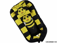 Arı Figürlü Anne Yanı Yatağı Babynest