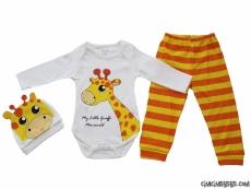 Sevimli Zürafa 3'lü Badili Takım