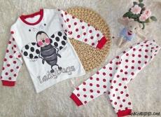 Uğur Böceği Kız Çocuk Pijama Takımı