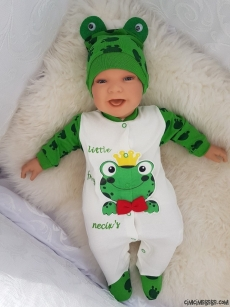 Kurbağalı Penye Bebe Tulum