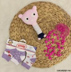 Çilek Desenli Bebe Çorap