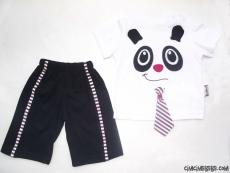 Kravatlı Panda Takım
