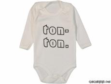 Ton-Ton Baskılı Uzun Kollu Bebek Badi