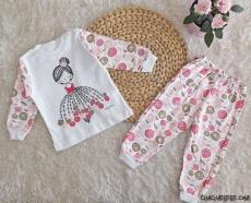 Balerin Kız Çocuk Pijama Takımı