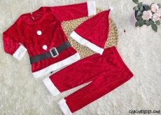 Kadife Noel Baba Kostüm