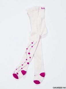 Çiçek Desenli Külotlu Çorap