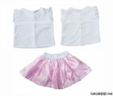Şifon Gömlekli Etekli Kız Çocuk Takım