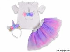 Unicorn Taçlı Tütülü Doğum Günü Kostüm