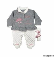 Bandanalı Kız Bebek Tulum