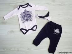 Prenses Bandanalı 3'lü Bebek Takım