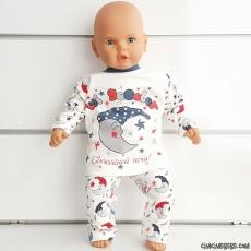 İyi Geceler Baskılı Pijama Takımı