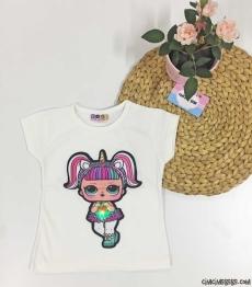 Sürpriz Kız Işıklı Çocuk T-Shirt