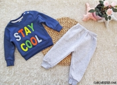 Stay Cool İçi Polar Kışlık Erkek Eşofman Takımı