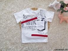 Cep Detaylı Erkek Çocuk T-Shirt