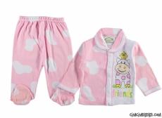 İnek Baskılı Damalı Pijama Takımı