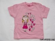 Kalp Baskılı Taşlı T-Shirt