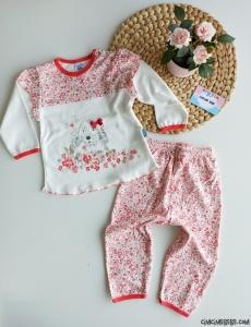 Minik Tavşan Kız Bebek Pijama Takımı