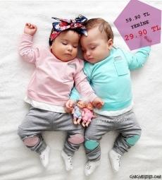 Cep Detaylı Bebek Takım