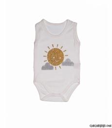 Güneş Baskılı Askılı Bebek Badi