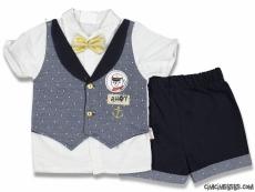 Denizci Erkek Bebek Şık Takım