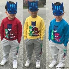 Maskeli Kahramanlar Erkek Çocuk İçi Polar  Eşofman Takımı