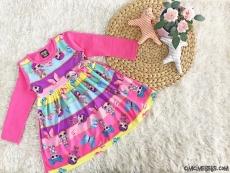 Sürpriz Kız Çocuk Desenli Elbise