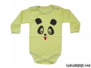 Panda Baskılı Penye Bebe Badi