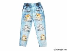 Kedicikler Kot Görünümlü Kız Çocuk Tayt