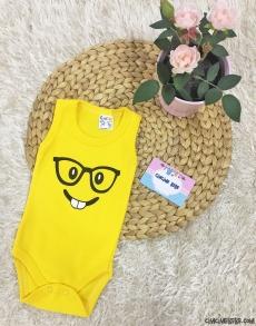 Gözlüklü Emoji Askılı Bebek Badi