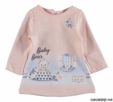 Dijital Baskılı Kız Bebek Elbise