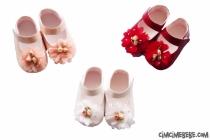 Çiçekli Rugan Ayakkabı