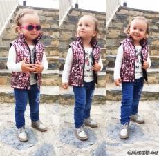 Şişme Yelekli 3'lü Kız Çocuk Takım