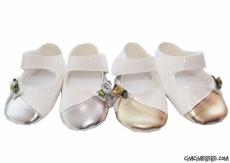 Altın Ve Gümüş Yaldızlı Şık Bebe Ayakkabı