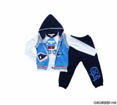 Sneaker Boy Yelekli 3'lü Erkek Çocuk Takım