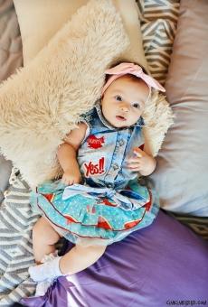 Kot Gömlekli Karpuz Etekli Bebek Takım