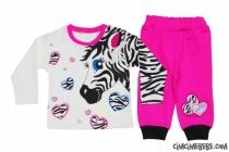 Zebra Baskılı Penye Bebe Takım