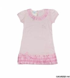 Etekleri Dantelli Kız Çocuk Elbise