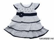 Çizgili Kat Kat Bebe Elbise