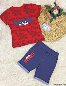 Aloha Erkek Çocuk Şortlu Takım