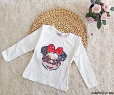 Şekil Değiştiren Pullu Kız Çocuk Sweatshirt