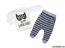 Super Hero Şalvarlı Takım