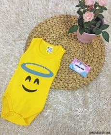 Melek Emoji Askılı Bebek Badi