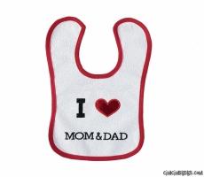 I Love Mom Dad Mama Önlüğü