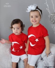 Türk Bayrağı Çocuk T-Shirt