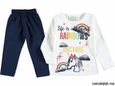 Rainbows Kız Çocuk Taytlı Takım