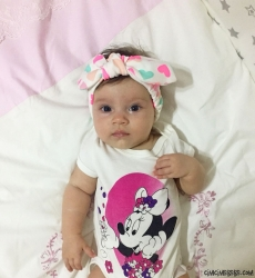 Tavşan Kız Bebek Bandana